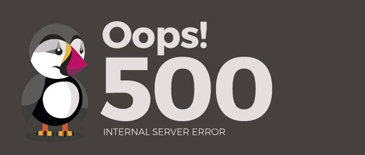 Error 500 on the site