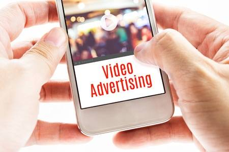 Video advertising on the site